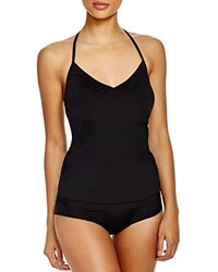 Laundry By Shelli Segal Zahara Blouson Tankini Top Black