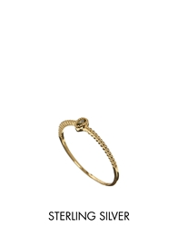 Asos Gold Plated Sterling Silver August Birthstone Ring Green