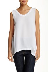 14Th And Union Woven Tank White