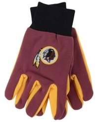 Forever Collectibles Washington Redskins Palm Gloves Maroon