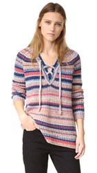 Rebecca Minkoff Chrissy Sweater Multi Space Dye Stripe