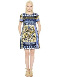 Alberta Ferretti Printed Cotton Faille Dress
