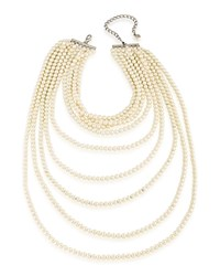 Carolee Beaded Necklace 22 White
