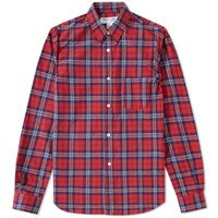 Comme Des Garcons Shirt Boy Tartan Shirt Red