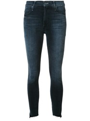 Mother Stonewash Effect Skinny Jeans Blue
