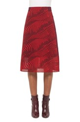 Akris Women's Zebra Print Overlay Wool Skirt