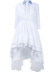 Natasha Zinko Midi Shirt Dress With Sheer Back White