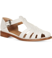 Church's Kelsey Leather Closed Toe Sandals White