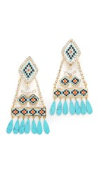 Shourouk Ramses Earrings Blue