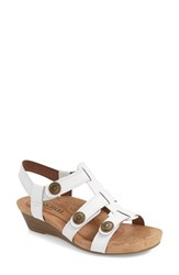 Women's Cobb Hill 'Harper' Wedge Sandal White Leather