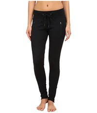 Zobha Zippered Pocket Leggings Black Women's Workout