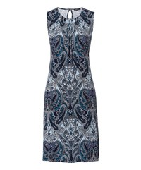 Olsen Paisley Print Dress Blue