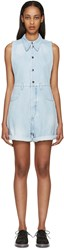 Maison Martin Margiela Blue Distressed Denim Romper