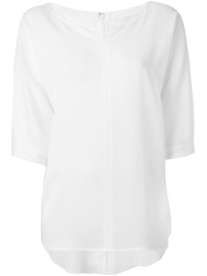 Y's Loose Fit Blouse White