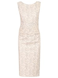 Jolie Moi Two Tone Lace Dress Light Pink