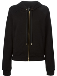 Versus Studded Hooded Zipped Up Cardigan Black