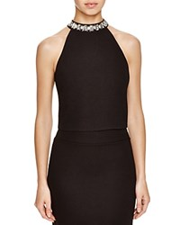 J.O.A. Sleeveless Embellished Neck Top Compare At 67 Black
