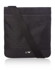 Armani Jeans All Over Logo Cross Body Black