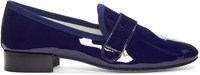 Repetto Navy Patent Leather Michael Loafers