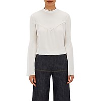 Derek Lam Women's Pintucked Blouse White