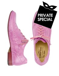 Pakerson Pink Italian Handmade Leather Lace Up Shoes