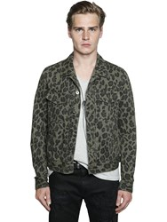 Just Cavalli Leopard Printed Denim Jacket