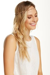 David And Young Feather Tassel Braided Headwrap Brown