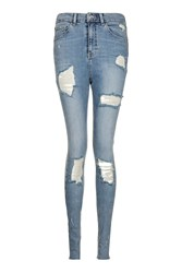 Topshop Tall Super Ripped Jamie Jeans Blue