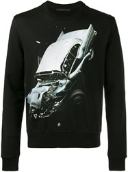 Christopher Kane Car Crash Print Sweatshirt Black