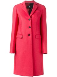 Paul Smith Ps By Single Breasted Coat Pink And Purple