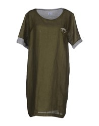 Cooperativa Pescatori Posillipo Dresses Short Dresses Women Military Green