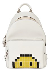 Anya Hindmarch Off White Leather Backpack