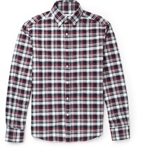 Michael Bastian Plaid Cotton Flannel Shirt Red