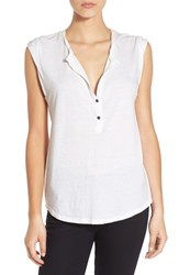 Women's Pam And Gela Burnout Short Sleeve Henley Tee