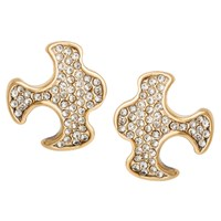 Paige Novick Gabriel Small Puzzle Stud Earrings Gold