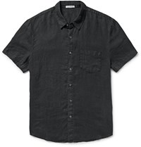 James Perse Linen Shirt Black
