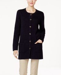 Charter Club Duster Cardigan Only At Macy's Deepest Navy