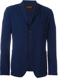 Aspesi Textured Blazer Blue
