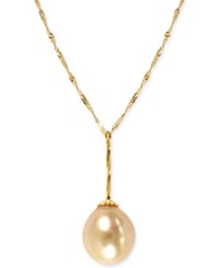Effy Collection Effy Golden South Sea Pearl 11Mm Necklace In 14K Gold