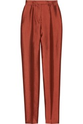 Haider Ackermann High Waisted Wool And Silk Blend Skinny Pants Red