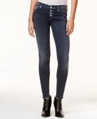 Hudson Jeans Krista Button Fly Dark Skies Wash Skinny