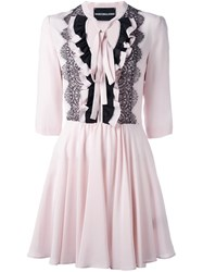 Marco Bologna Ruffled Layer Dress Pink And Purple