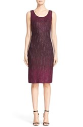 St. John Women's Collection 'Kira' Crystal Embellished Ombre Knit Sheath Dress