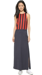 Sass And Bide Invisible Audience Maxi Dress Pop Red French Navy