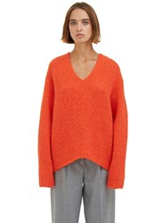 Acne Studios Deborah Oversized Alpaca Knit Sweater Orange
