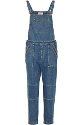 Sea Washed Denim Overalls Blue