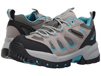 Propet Ridge Walker Low Light Grey Turquoise Women's Lace Up Casual Shoes Gray