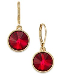 Charter Club Bezel Set Crystal Earrings Only At Macy's Jet Gold