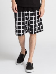 Hall Of Fame Black Tech Grid Shorts