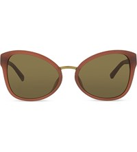 3.1 Phillip Lim Pl102 Cat Eye Sunglasses Amber And Bronze